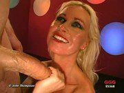 Beautiful Mature Blonde Sucking a Thick Cock