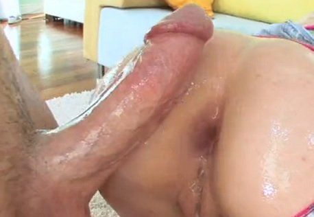Blonde Bitch Giving Her Ass by Fat White Cock