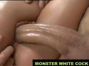Bitch Moaning Loudly on the Big White Cock HD