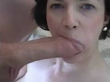Mature Wife Serving Big White Dick Homemade