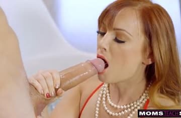 Monster White Dick Fucking Stepmom HD