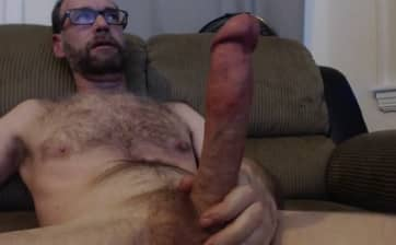 Daddy MassSchlong shows his Huge Cock Solo